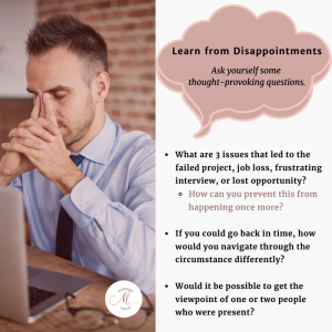 learn from disappointments shift career